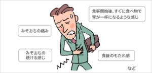 機能性胃腸症の原因と症状