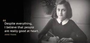 「アンネの日記」で有名なアンネ・フランクもユダヤ人大虐殺 (ヘイトクライム)の犠牲者の一人です