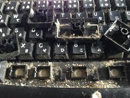 キーボードの汚れはアレルギーの原因に