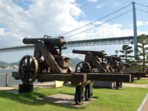 関門海峡にある壇ノ浦砲台跡