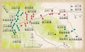 関ヶ原の戦い勢力図マップ